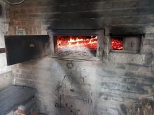 Das Feuer im Backhaus-Ofen